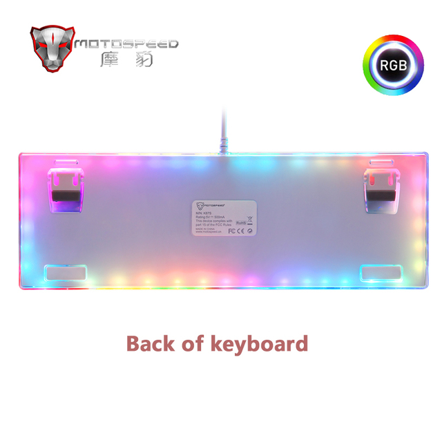 Original Motospeed K87S Gaming Mechanical Keyboard USB Wired 87 keys with RGB Backlight Red/Blue Switch for PC Computer Gamer 2