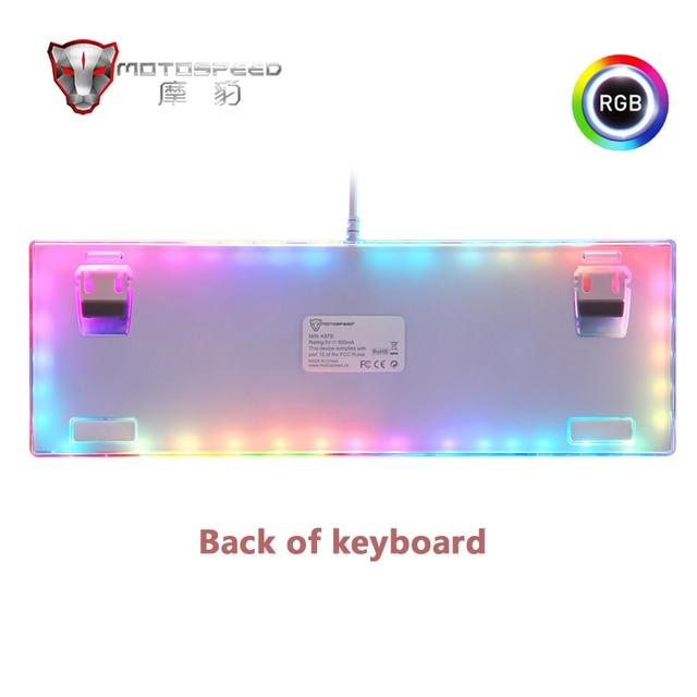 Original motospeed k87s gaming teclado mecânico usb prendido 87 teclas com luz de fundo rgb vermelho/azul interruptor para computador pc gamer 2