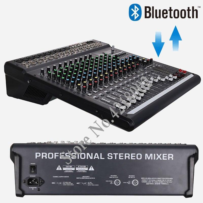 Unterhaltungselektronik 48 V Phantom Power 99 Dsp Effekte Beruf Audio Sound Digitalen Wirkung Karaoke Dj Mixer Konsole Mischen Mit Bluetooth Usb Mp3