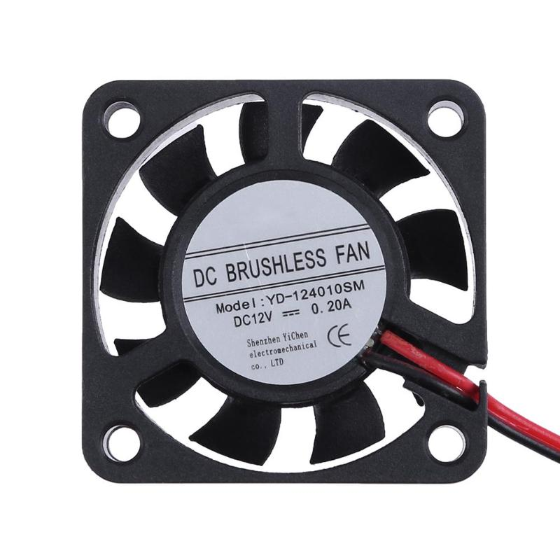 Black YC-124010SM DC12V Cooler Fan 40x40mm 9 Blades Computer Cooling Fan Radiator Square Frame Shape For Computer PC computer cooling