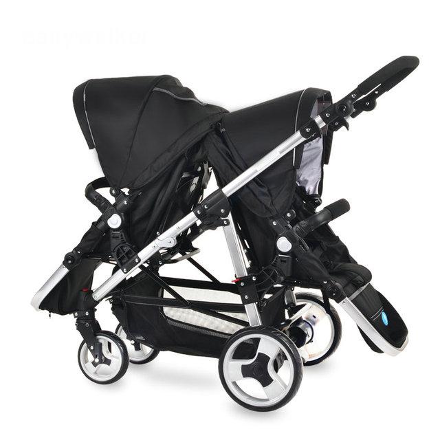 0-60month gêmeos gêmeos carrinho de bebê carrinho de bebê venda quente original de alta qualidade confortável dobrado carrinho de criança