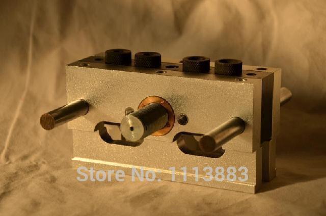 Высокоточный CNC подвергая механической обработке Self-Centering дюбель Jig с 3 метрическими размерами сверла (6 мм, 8 мм, 10 мм)