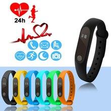 Купить с кэшбэком New Smart Bracelet M2 HeartRate Bracelet Waterproof Sport Fitness Band Stepcount Message Smart Loop DJA99  Bluetooth Smart Watch