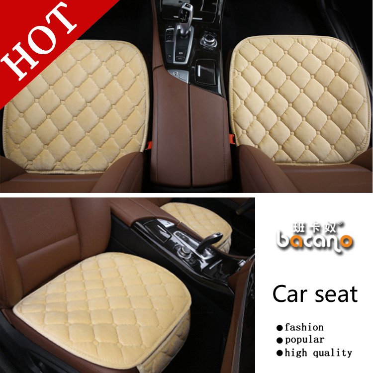 2pcs/set New General Car Seat Cushions,universal Non-rollding Up Pads Single Non Slide Not Moves Bamboo-carbon Car Seat Covers Cheap Sales