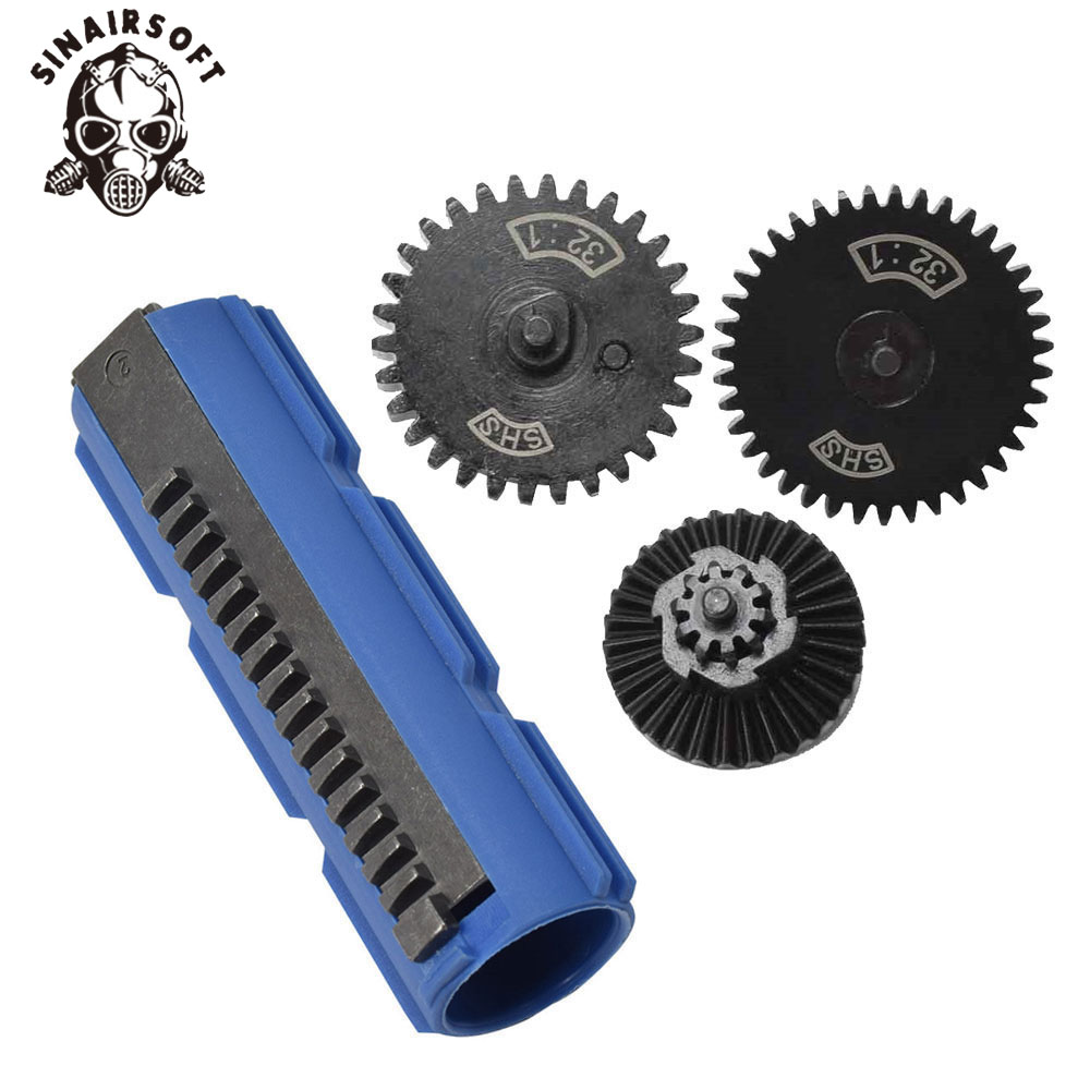 SINAIRSOFT SHS 15 Teeth Half Teeth Piston And 32:1 GEARS For Airsoft M4 AK G36 MP5 AEG Gearbox Ver 2/3 Paintball Hunting