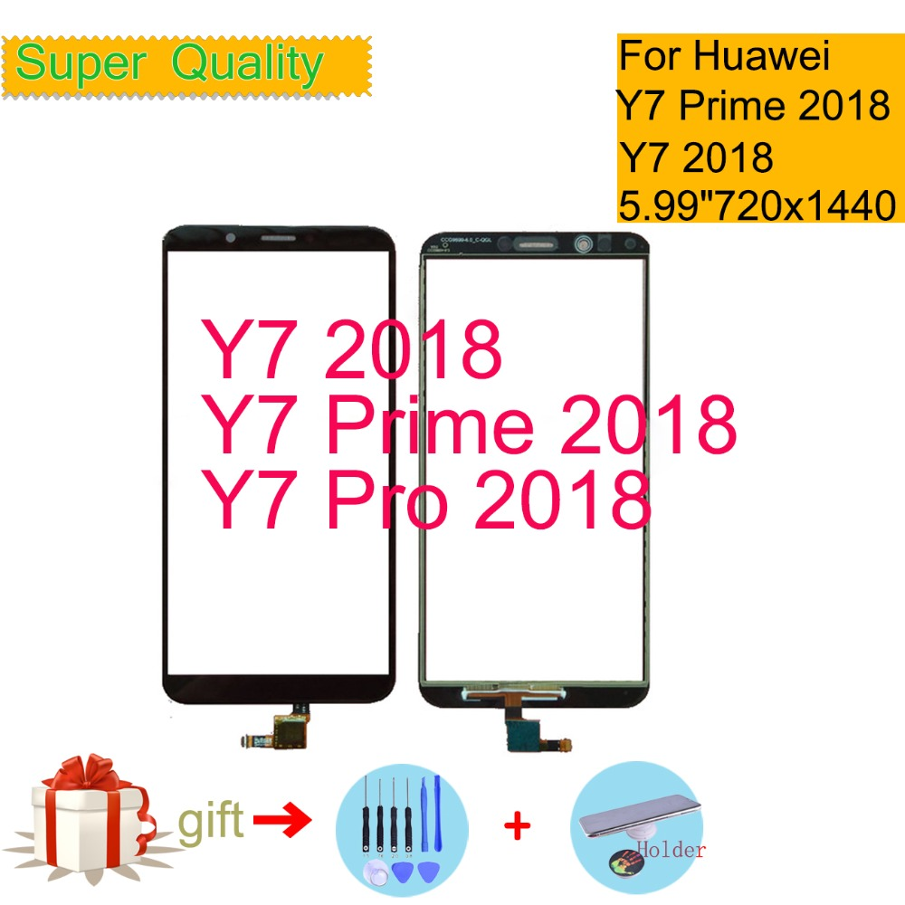 For Huawei Y7 2018 Touch Y7 PRIME 2018 Touch Screen Y7 Pro 2018 Touch Panel Sensor Digitizer Front Glass Outer Lens 5.99
