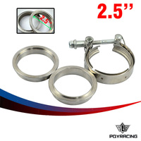 New Type 2 5 VBand Clamp Flange Kit Stainless Steel 201 For Turbo Exhaust Downpipe