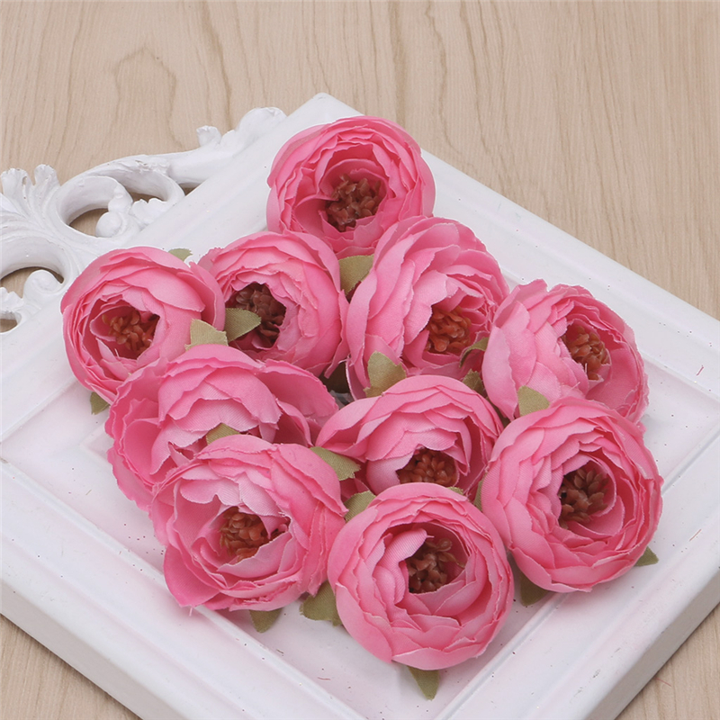 10pcs silk flower artificial flower head artificial flower for Artificial flower for wedding decoration