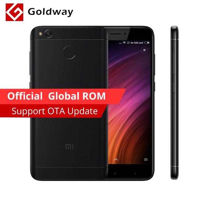 """Оригинал xiaomi redmi 4 х 4 х 2 гб оперативной памяти 16 ГБ rom мобильный телефон snapdragon 435 octa ядро 5.0 """"4100 мАч Официальной Глобальной Rom 13.0MP"""