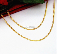 999 Pure 24K Yellow Gold Necklace / Perfect Curb Chain 3.5g 17.7L