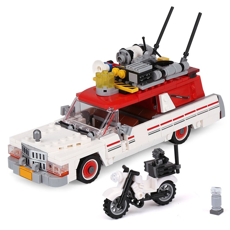 New Genuine Movie Series The Ghostbusters Ecto-1&2 Set Children Educational Building Block Brick Toys Support Dorpshipping