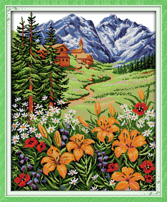 Snow Mountain in spring cross
