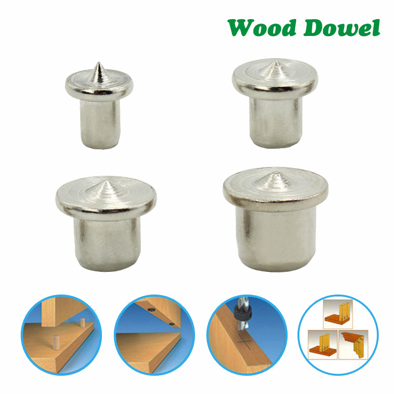LAVIE 4pcs Woodworking Log Locator Dowel Furniture Positioning Tools Tenon Top Logs Wooden Pin Center Punch Accessories DB05005