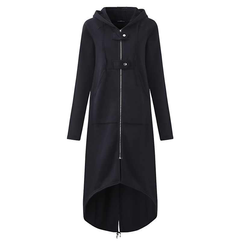 秋冬のコートの女性のファッションカジュアルジッパーオープンステッチ付きジャケットパーカー上着プラスサイズ 5X
