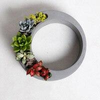 Hollow Flowerpot Silicone Molds New Design DIY Pot Molds Handmade Concrete Pot Moulds