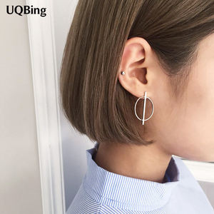 Free Shipping 2016 New Arrival Silver Round Stud Earrings 925 Sterling Silver Stud Earrings For Women Jewelry Pendientes Brinco(China)