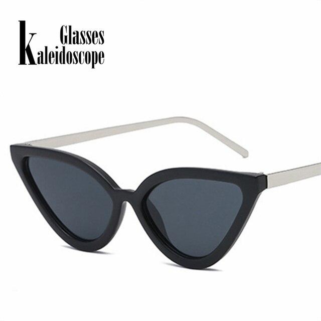 99b691dd5cc51 Caleidoscópio Olho De Gato Óculos Óculos De Sol Das Mulheres Design de Moda  Triângulo de Metal