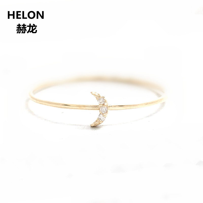 Solid 14k Yellow Gold Women Engagement Vintage Ring Anniversary Wedding Band Fine Jewelry vintage solid 14kt yellow gold natural diamond two engagement wedding band ring for women fine jewelry anniversary gift r0014