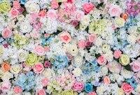 Huayi 아름다운 꽃 배경 웨딩 사진 배경 패브릭 신생아 사진 배경 사진 스튜디오 XT-5900