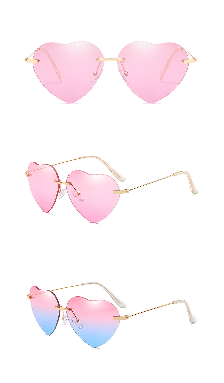 d9b046137f Brand Luxury Designer Sunglasses Polarized Lovely Heart Shape Sun ...