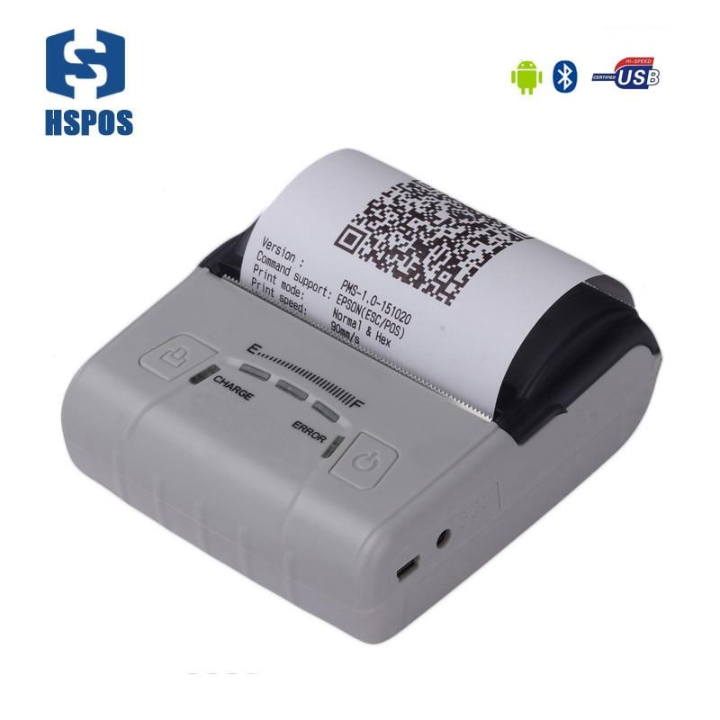 все цены на Portable 80mm thermal android pos pocket printer HS-E30UA usb port impressora termica bill printing machine provide free SDK онлайн