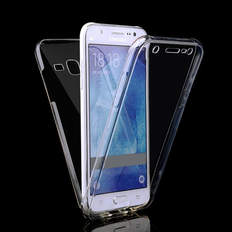 huge discount e694c c69a1 US $1.89 5% OFF|For Samsung J3 J7 J5 prime 2016 Case Front + Back Clear TPU  Soft Case for SAMSUNG J5 J3 J7 2017 Cover 360 Full Protective Cases-in ...