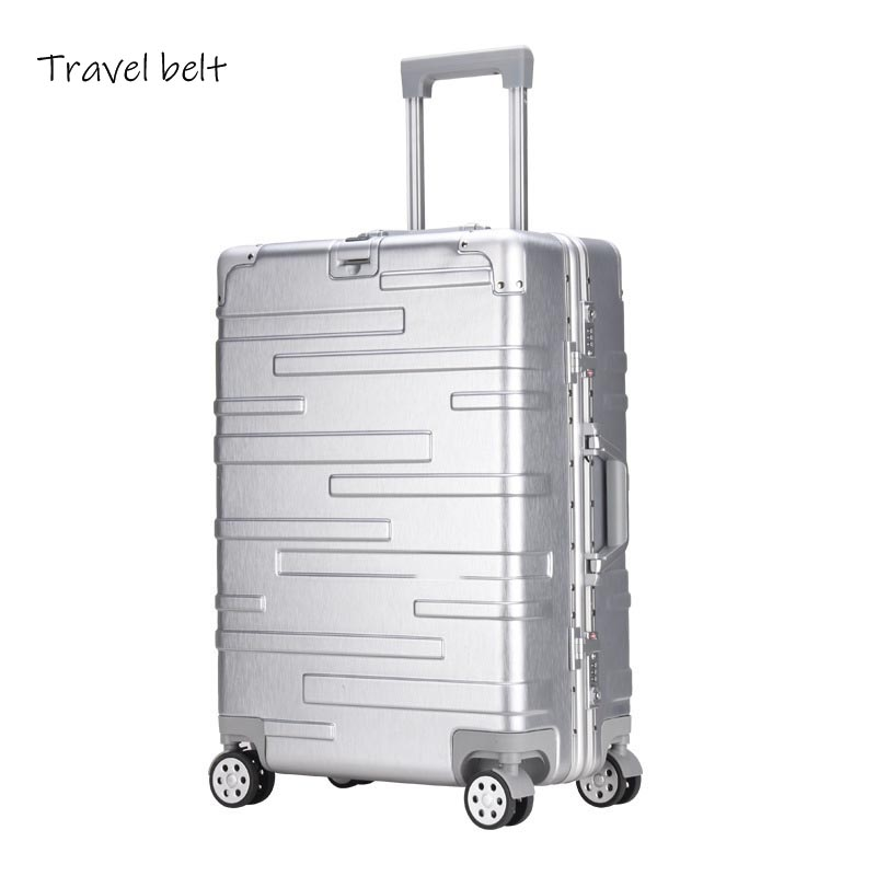 Large volume 100% aluminum frame fashion Rolling Luggage Spinner brand Men Business Travel Bags Women Cabin Suitcase WheelsLarge volume 100% aluminum frame fashion Rolling Luggage Spinner brand Men Business Travel Bags Women Cabin Suitcase Wheels