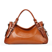 Italian leather Custom logo wholesale High Quality Genuine Leather Women's Handbags Cowhide Hobos Pack Famous Brand