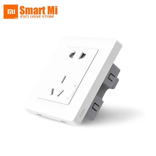 Formal Edition Xiaomi Mi Aqara Brand Smart Wall Socket ZigBee Timing ...