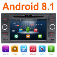 Car Multimedia DVD Player 2Din Car Radio GPS Android 8.1 For Ford Focus 2 Mondeo 4 C Max S Max Ford Fiesta Kuga Fusion Galaxy