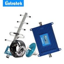 Lintratek LCD affichage GSM 900MHz répéteur de téléphone 70db 900MHz amplificateur de Signal de téléphone portable antenne GSM amplificateur Mobile ensemble complet @