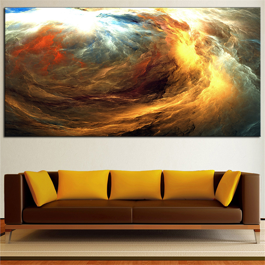 Large sizes wall art prints abstract oil painting wall for Green wall art