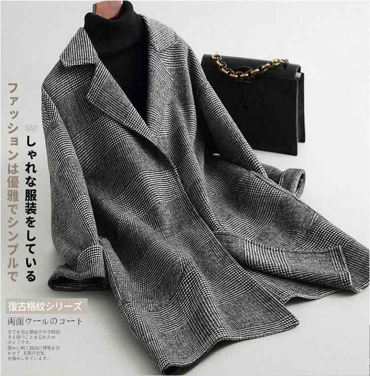 Fashion long double Wool Coat Women winter jacket loose 2018 new arrival 13colors S,M,L