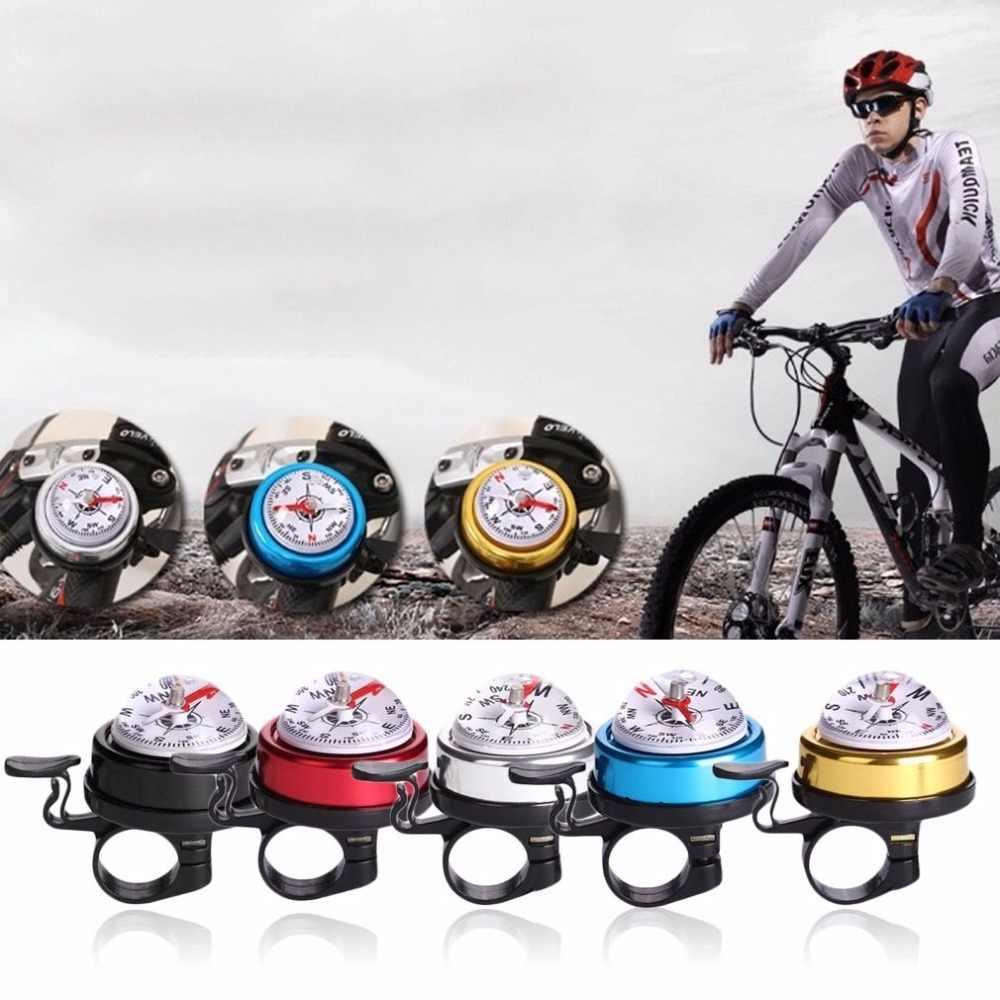 プラスチック自転車警報ベル自転車ホーンサイクリング安全自転車リングベル内蔵コンパスフィットのための 22 ミリメートルハンドルグリップ直径