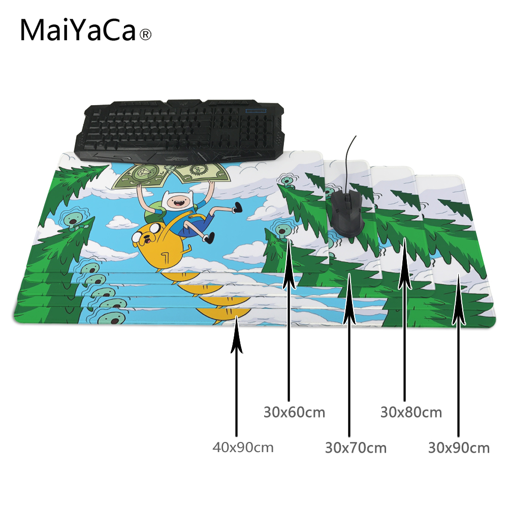 MaiYaCa Adventure Time 800x300x2mm pad to Mouse Notbook Computer Mousepad Cheapest Gaming pad mouse Gamer to 90x30cm Mouse