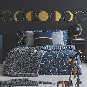 Переводная Наклейка на стену с Луной, декор для Луны, декор стен, минималистичный декор, подарок для нее, подарок на астрономию, подарок на лу...