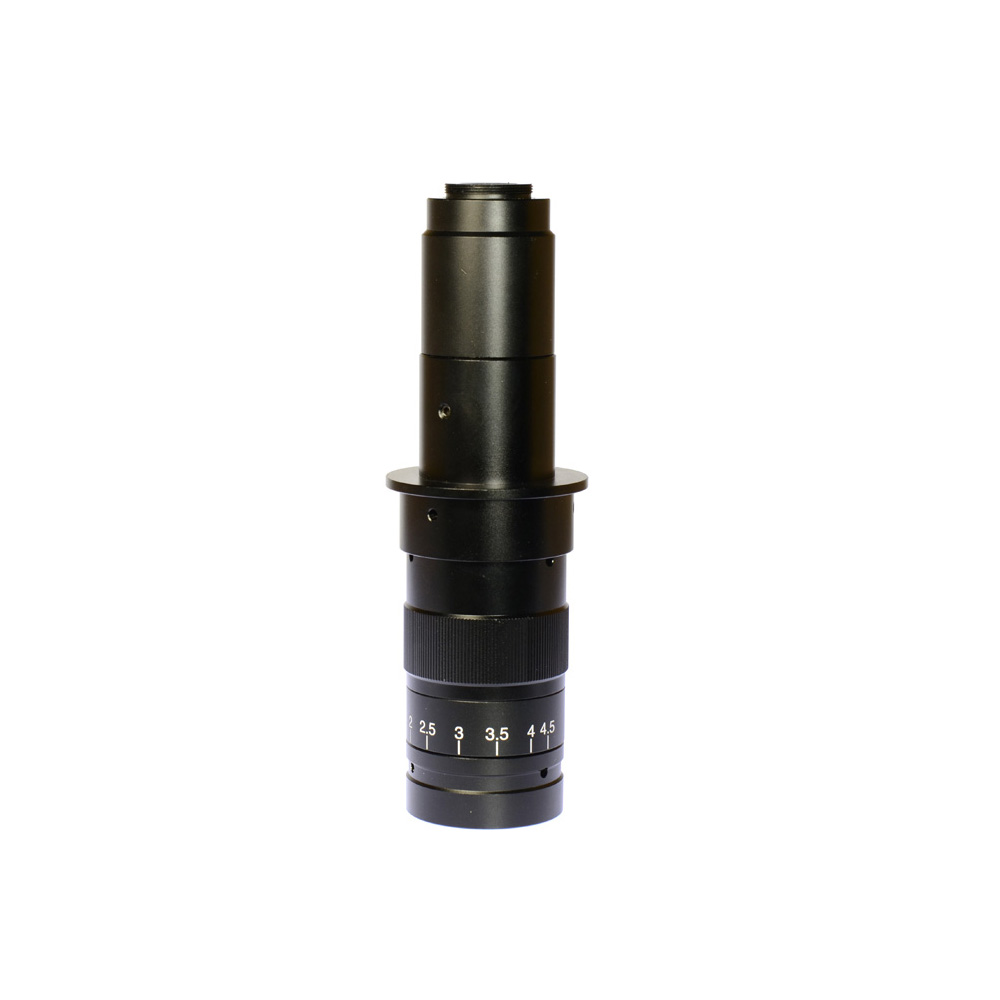 Adjustable 180X Magnification Zoom 25mm C mount Lens 4 5X Adapter for Industry Microscope Camera Eyepiece