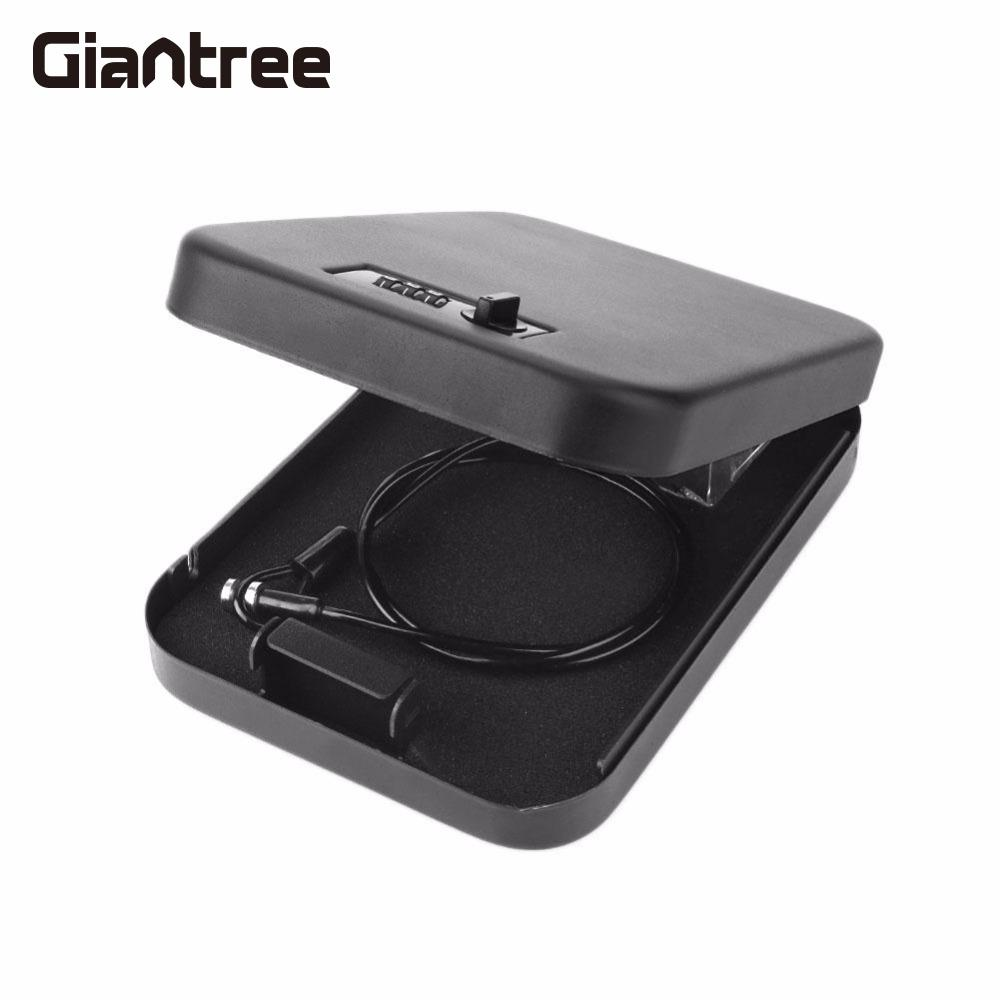 giantree Vehicle-Mounted On-Board Safe Box Money Cash Portable Password Lock Secret Metal giantree portable money box 6 compartments coin steel petty cash security locking safe box password strong metal for home school