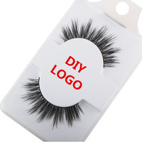 Accept Customize Label 500 Pairs Eyelashes Natural False Lashes Soft Lashes Eyelash Extension Black Makeup Eyelash Extension