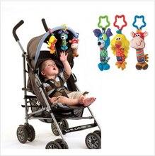 New Baby Infant Soft Rattles Cute Animals Pram Stroller Bell Developmental Toy
