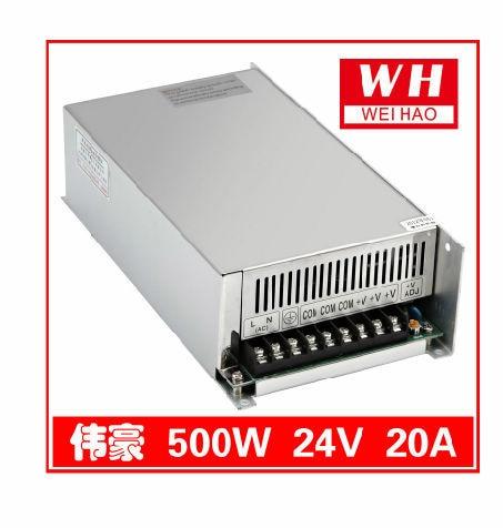 CNC 24V 20A Regulated Switching Power Supply AC 220V to DC24V 500W DC24V 20A