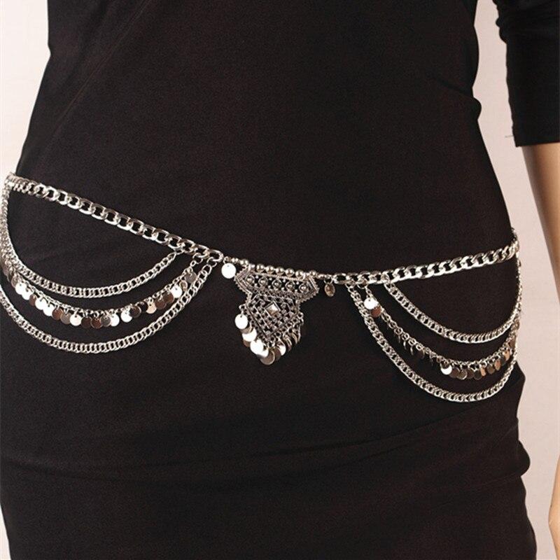 Mode Vintage Gypsy TurkishMetal Dangle Multilayer Pailletten Quaste - Modeschmuck - Foto 3