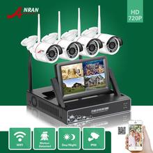 """ANRAN P2P HDMI 4CH WIFI NVR 7""""LCD Monitor Night Vsision IP66 Outdoor CCTV Security 720P Wireless IP Camera Surveillance System"""