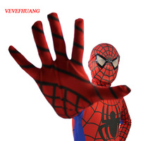 VEVEFHUANG Red Black Spiderman Costume Spider Man Suit Spider Man Costumes Adults Children Kids Spider Man