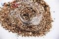 HM2104-227 brillo metálico de Color café Claro Forma Hexagonal Cequis Del Brillo para el arte del clavo DIY decoración decoraciones de Halloween