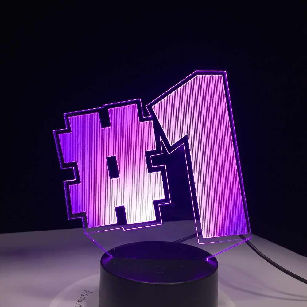 Серия игр #1 дизайн 3D лампа RGBW 7 цветов сенсорный светодиодный светильник Настольный светильник для школы подарок Прямая доставка