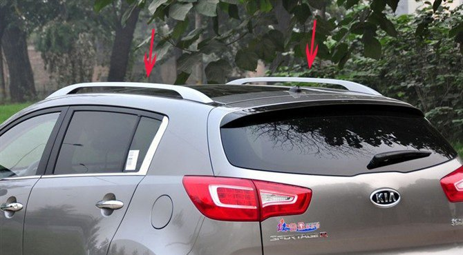 for 2011 2012 KIA Sportager High quality Aluminium alloy Luggage rack Pasted directly installed