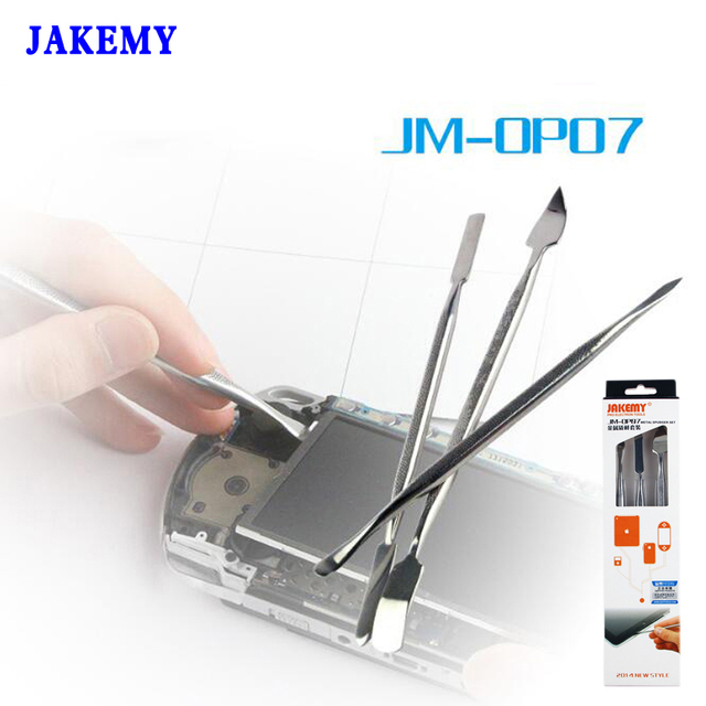 3pcs/set JAKEMY Metal Spudger Opening Pry Tools For iPhone iPad Samsung Cell Phone Repair Tool Kit Outils Gereedschap