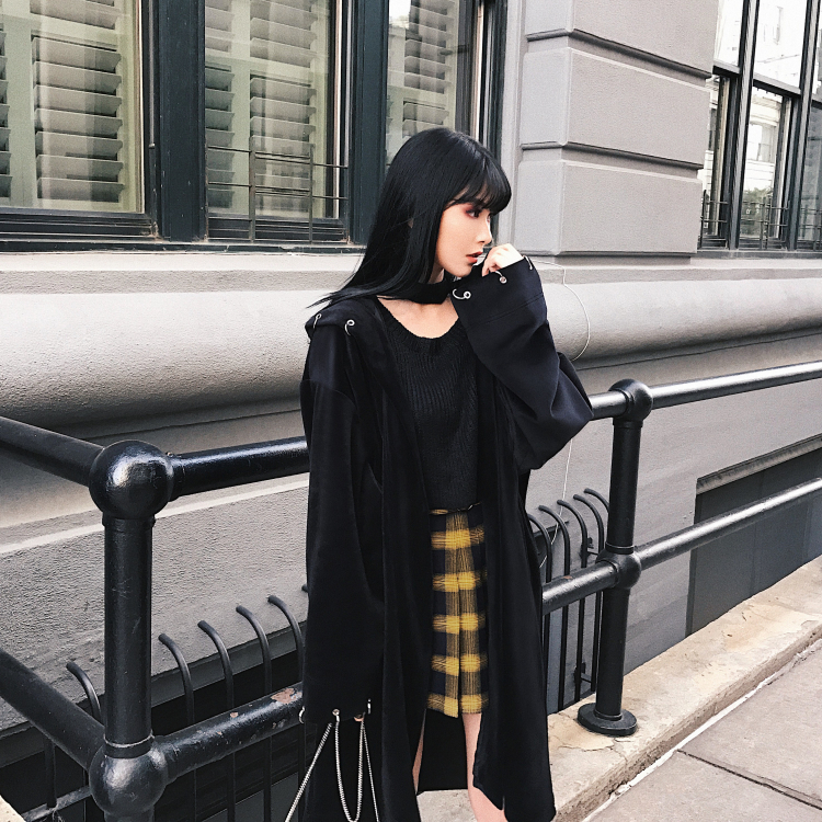 HTB1uH4SXiYrK1Rjy0Fdq6ACvVXaw - Spring Summer Harajuku Women Fashion Skirts Cute Yellow Black Red  Pleated Skirt Punk Style High Waist Female Mini Short Skirt