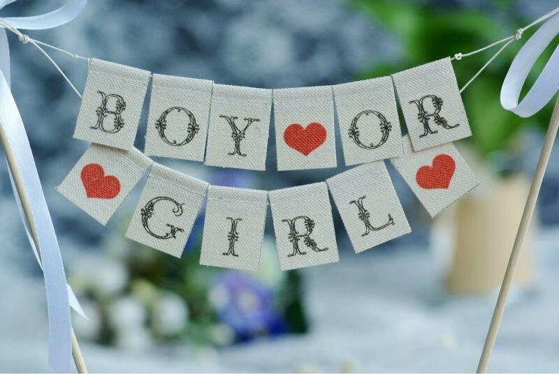 Gender Reveal Cake Topper Baby Shower CakeCake Banner Mini